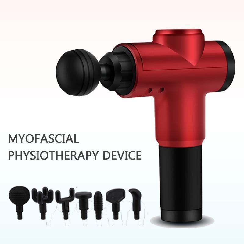 Bistola fasciale Muscle Relaxer con 7 teste di trattamento Attrezzature per il fitness Massaggio per il corpo uso domestico per uomo e donna