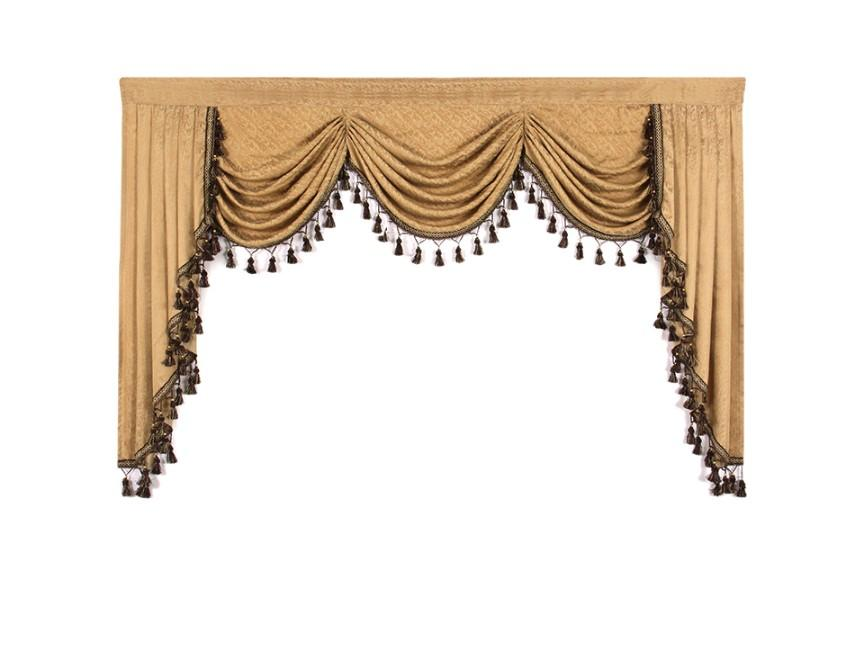 1 Piece European Valances for Living Room Waterfall Valances for Kitchen Modern Curtains Living Room Swag