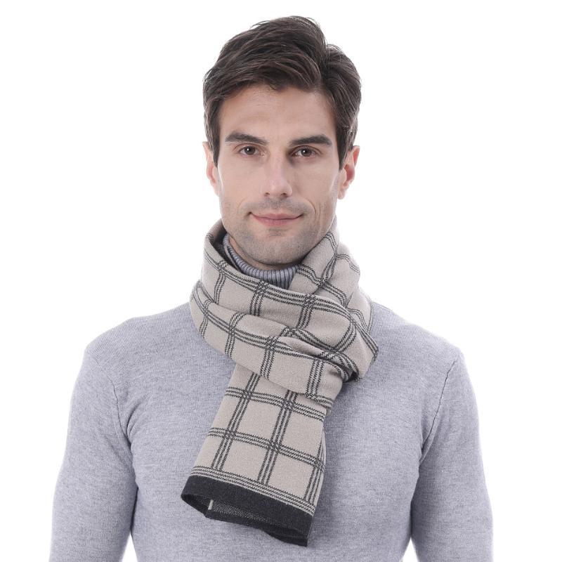 Шарфы мужские и женские вязание вязание вязание вязание крючков шарф имитация кашемировой жаккардовый папа натуральный подарок для молодых людей
