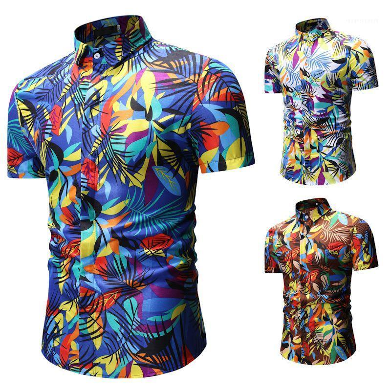 Belle chemise d'impression créative Hommes Casual Shirt Mode Classic Hommes Hommes Respirant Sleeve Marque Wear1
