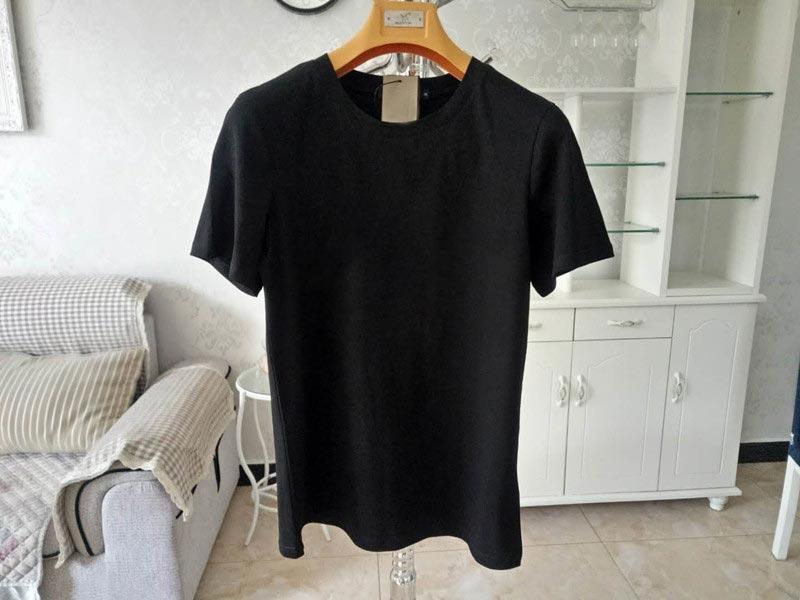 2021 lettre imprimé Homme T-shirt noir Black White Summer Mode Casual T-shirt Street Fermeture Designer Rayé Blanc T-shirt H01