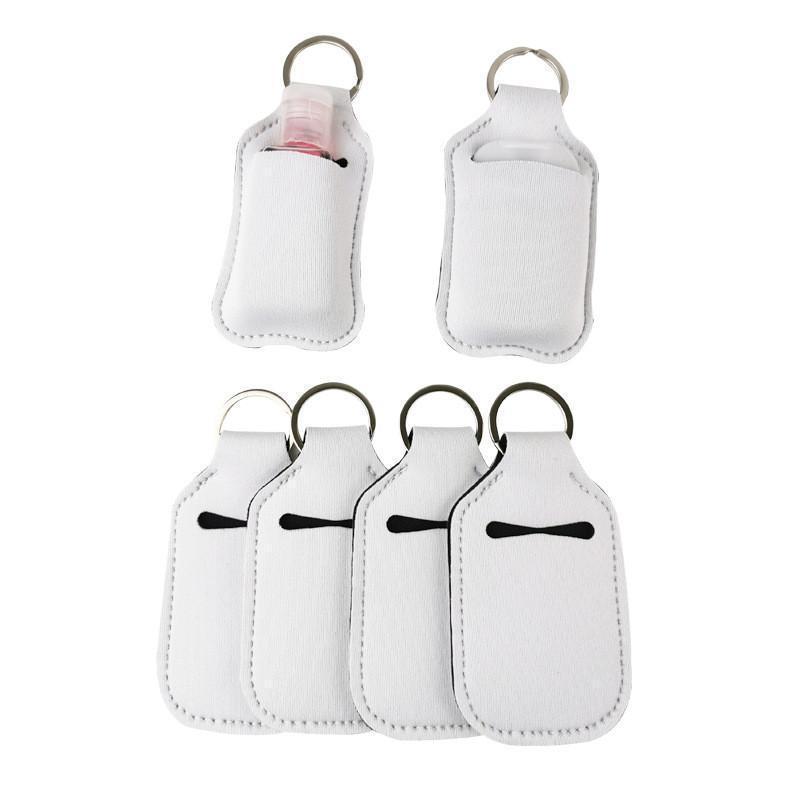 Soporte de botella de perfume de neopreno en blanco de 30 ml SBR SBR en blanco Botella de botella Botella de botella de perfume blanco Titular de la botella Llavero regalo FY8119