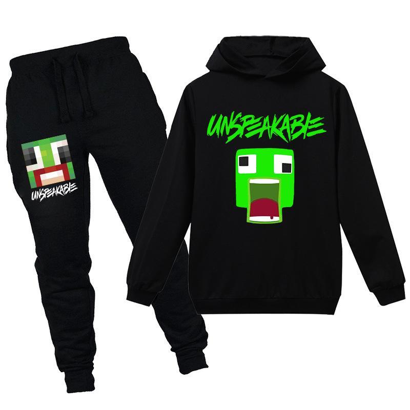 Modekinder Hoodie Sweatshirt Hosen Set unaussprechliche Kleidung Set für Teenager Jungen Mädchen Trainingsanzüge 3-14 Jahre