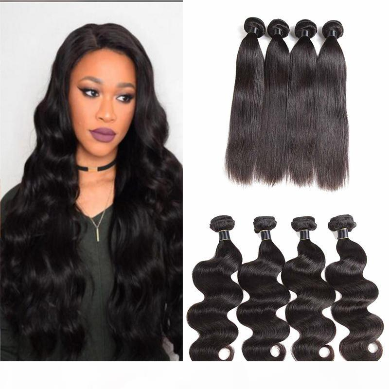 Raw Indian Virgin Hair Extension Straight Body Wave Human Hair Weaves Bundles 9a Brazilian Virgin Hair Wefts Deep Water Wave 4 Bundles
