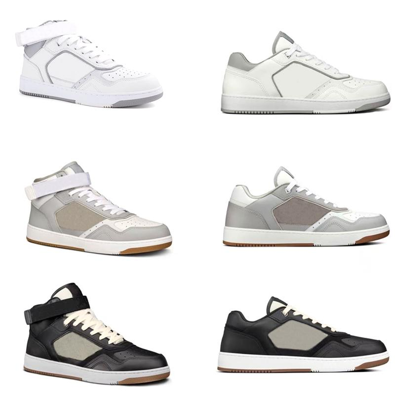 Новые наклонные кроссовки B27 мужские дизайнерские туфли кожаные ретро кроссовки женщин высокие верхние нижние тренажеры с коробкой 258