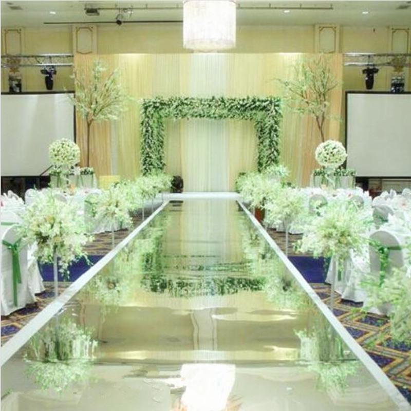1.2m x 20 m / rolo moda espelho de prata corredor corredor de corredor para festa de casamento decoração suprimentos