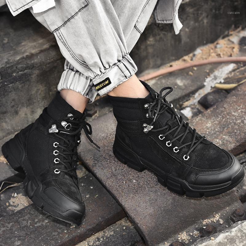 Freizeit Freizeitschuh Mens Mode Sport Schuhe Hohe Herrenschuhe Slip Männlich Kausal Verkauf Schwarz Sneakers High Man Outdoor Sports on1