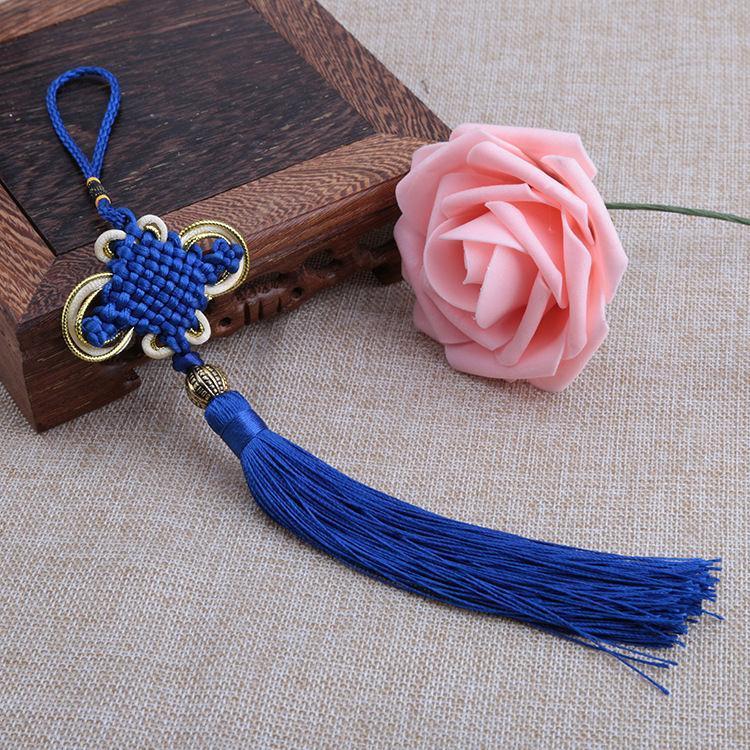 10pcs Multicolor Chinois Knot Tassel Pendel Diy Bijoux Accessoires Accueil Textile Rideau Vêtement Couture Macrame Décoration Pendentif H WMTDUQ