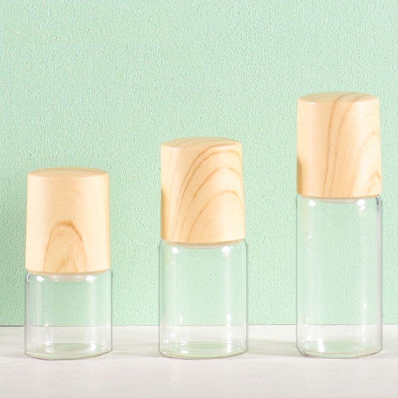 1ML 2ML 3ML 5ML Transparent Roll On Glass Bottle Empty Roller Bottles For Essential Oils Packaging