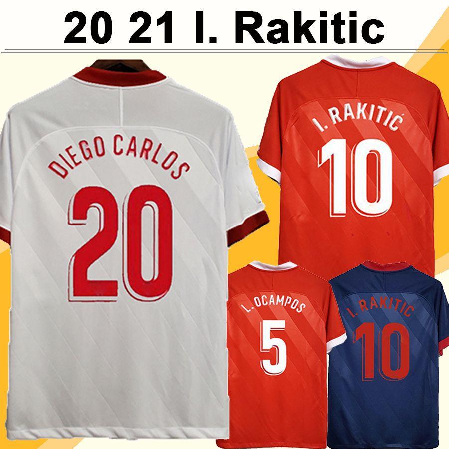 20 21 L. OCAMPOS I. RAKITIC Soccer Jerseys DE JONG J. NAVAS DIEGO CARLOS VAZQUEZ Home Away 3rd Mens Football Shirt Camisetas de futbol