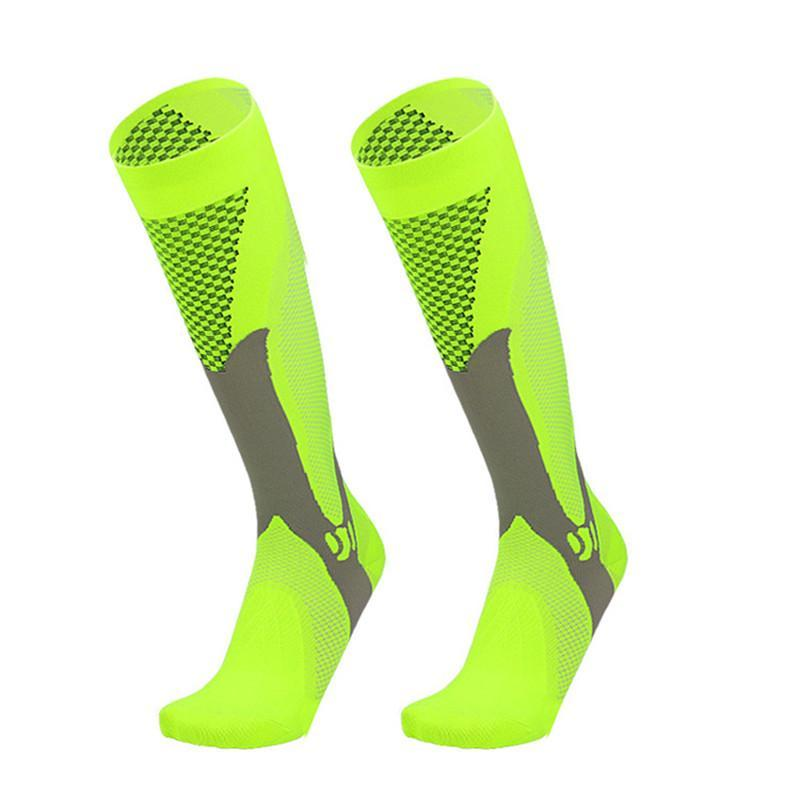 Compressione Donne Uomini Esecuzione ginocchio Palestra Calzini Alta supporto calze traspirante Cycling Socks sportivi per Socer sport di pallacanestro