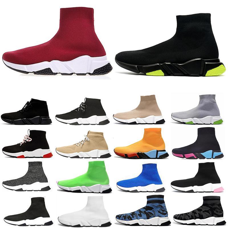 sock shoes New designer socks Shoes Speed Trainer men Running Shoes Speed Trainers Sock Race Runners women Sports Shoe Luxury shoes size 36-45