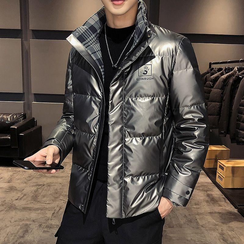 Roln novo jaqueta 2020 para baixo dobro terno de pão, desgaste de inverno e revestimento espessado face brilhante
