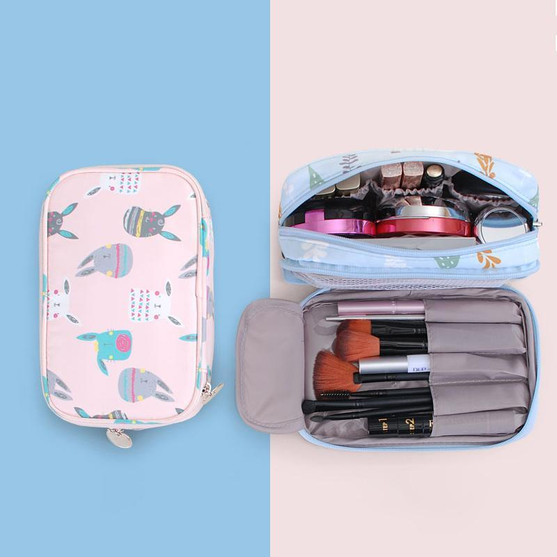 Süße Kosmetiktaschen Wasserdichte Makeup Organizer Zip Packs Lippenstift Pinsel Kulturerwaren Kit Beutel Tragbare Reise Lagerung Zubehör