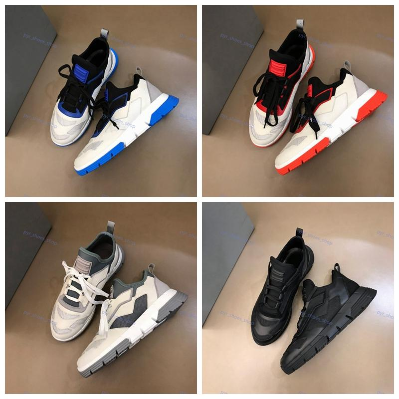 Prada Shoes 21SS New Llegada Mens Italia Luxe Twist Technical Tejed Sneakers Fashion Progettista Zapatos Hombres Zapatos de Marque Casual Envío Gratis Outdoor