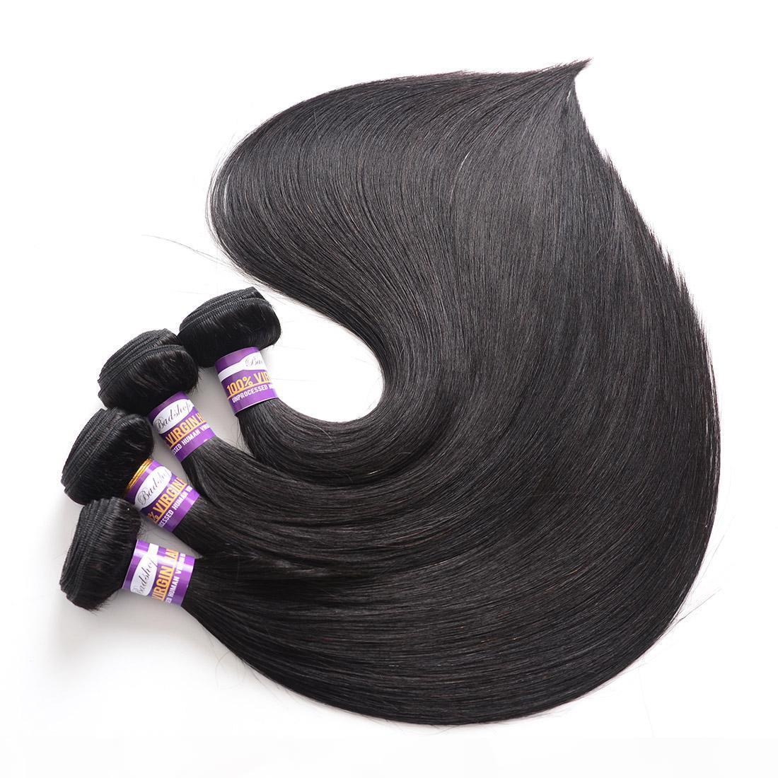 Норка бразильских прямых волос девственных волос 3 пакета 9a необработанные бразильские прямые человеческие волосы плетение пучки бразильские прямые волосы
