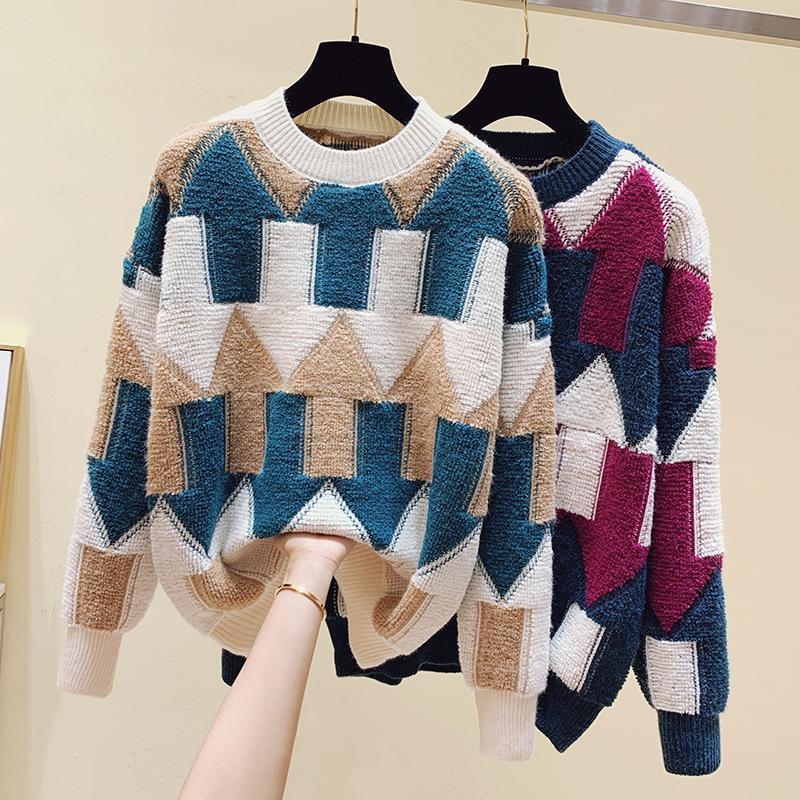 fall 2020 frauen kleidung lose mantel faul dicke damen pullover damen tragen explosive stil winter kleidung frauen pullover