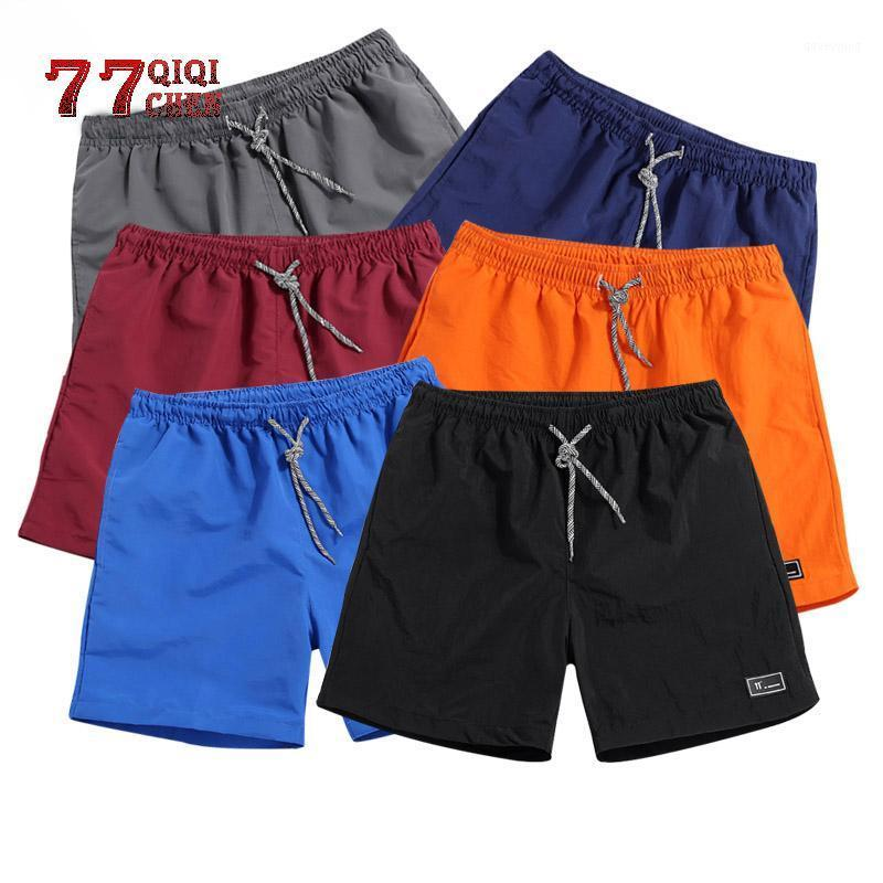 Men's Shorts Polyester Shorts for Men New 2019 Summer Solid Breathable Elastic Waist Casual Man Male Bermuda Homme1