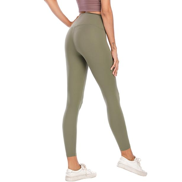 L-003 Pantalones de yoga para mujer Gimnasio altamente elástico Lu Lu Flexible Tejed Leggings Ligero NUDE SENTENCIA PANTALLAS DE YOGA PANTALONES FITNESS OSCURSE LADORES Marca 183 #