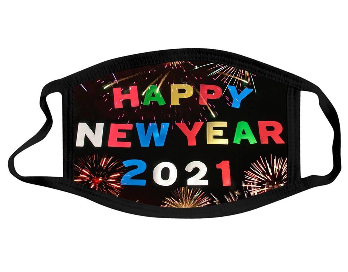 Дизайнерская маска Новый год Хлопок Моющиеся Маски рота Взрослый Новый Год пылезащитный дымчатый Мужчины Женщины Черный Красочный FaceMask FWE3171