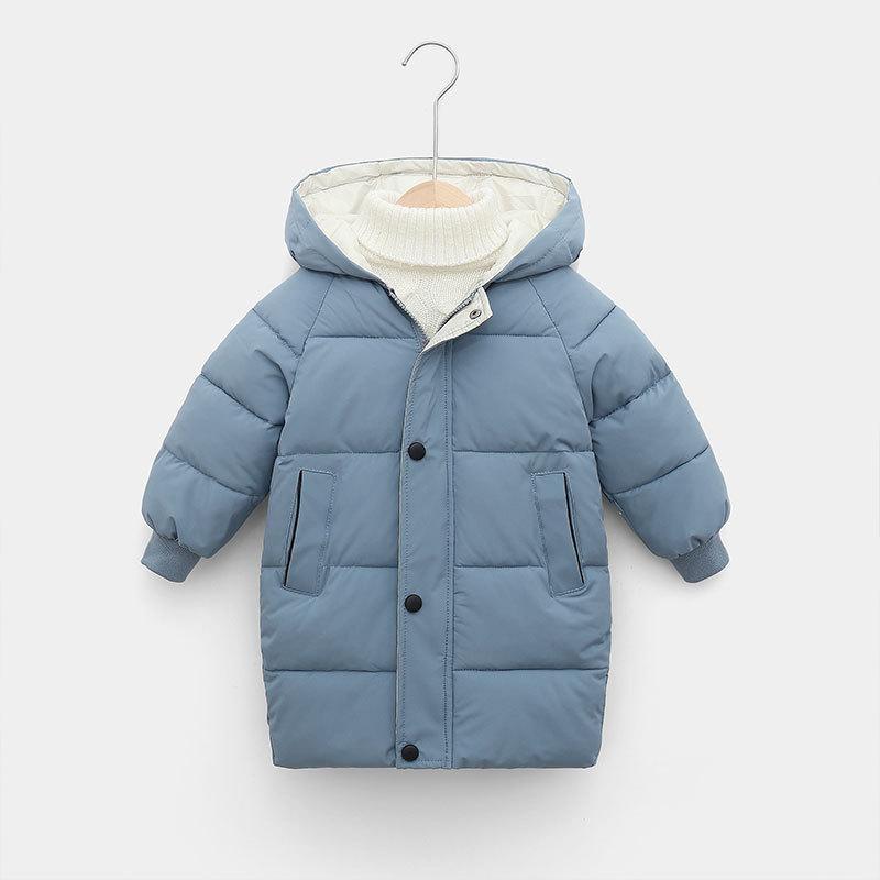 Детский пуховик внизу зимние подростковые мальчики для мальчиков девочек хлопчатобумажные Parka пальто сгущает теплые длинные куртки малыша детская верхняя одежда 201126
