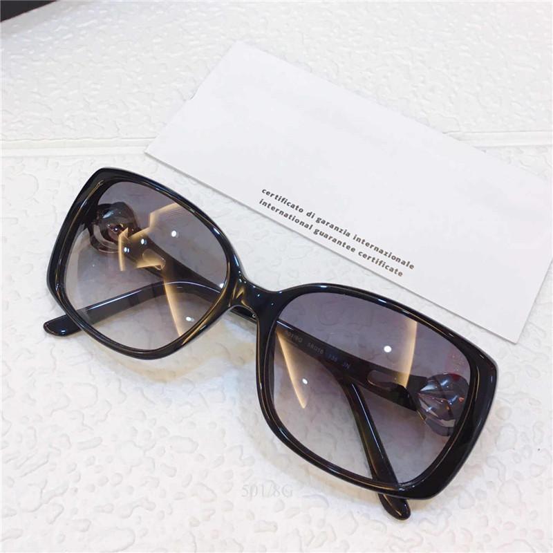 Lunettes de soleil 8079-B pour lunettes de soleil à assiettes Femmes de charme lunettes de charme Verres Trend Mode High Cadre Qualité Gems Square Full Hommes et UV Protec SXXQ SXXQ