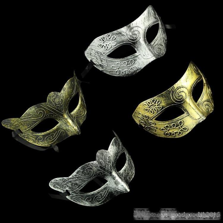 Retro Cavalheiro Face Máscara Fato Festa de Halloween Máscara Boldada Antiguidade Venetian Mardi Gras Masquerade Ball Masque C427