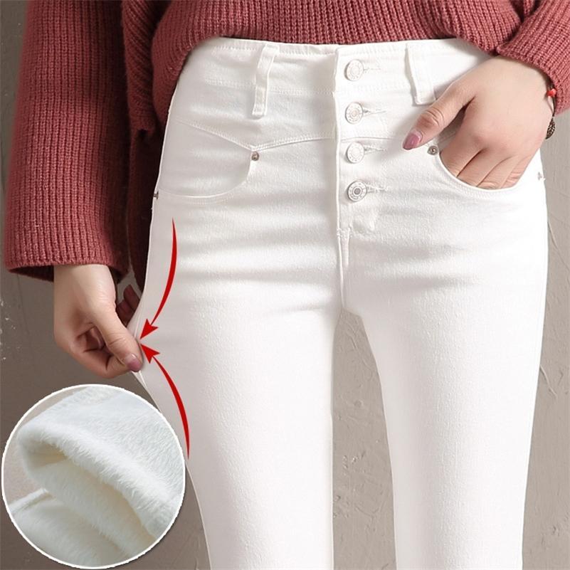 Женщины бархатные джинсы джинсовые джинсовые брюки зима женские сексуальные эластичные растягивающие густые теплые узкие бархатные джинсовые карандаш брюки джинсы брюки 20103