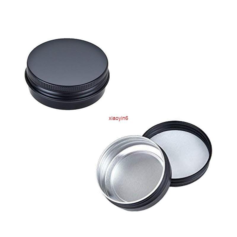 500 stücke 10g 15g leerer mini schwarzer aluminium creme jar nail art make-up kosmetische metall tins container für verschiffen