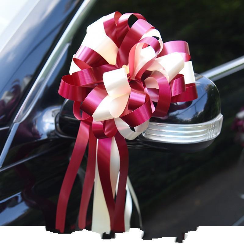 Faule Person Zwei Farbe Zug Bogen Hochzeit Auto Farbstoff Flower Ball Neue Produkte verkaufen gut mit verschiedenen Mustern 4 8LJ J1