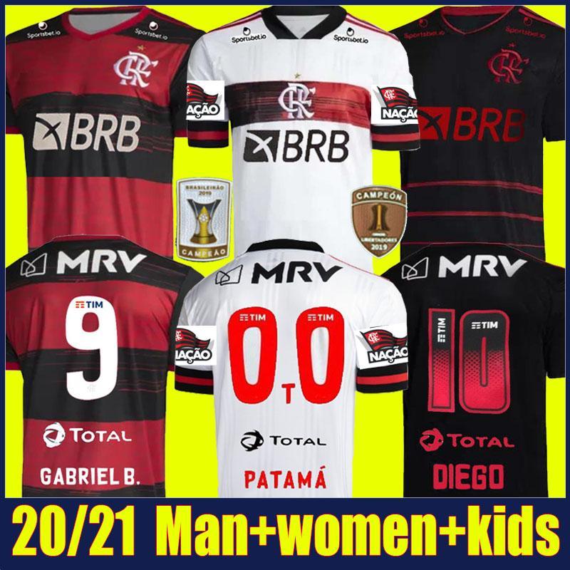 2020 Flamengo soccer jersey DE ARRASCAETA GABRIEL Barbosa football shirts kids kit GERSON B.HENRIQUE uniform Camisa Flamengo Feminina 20/21