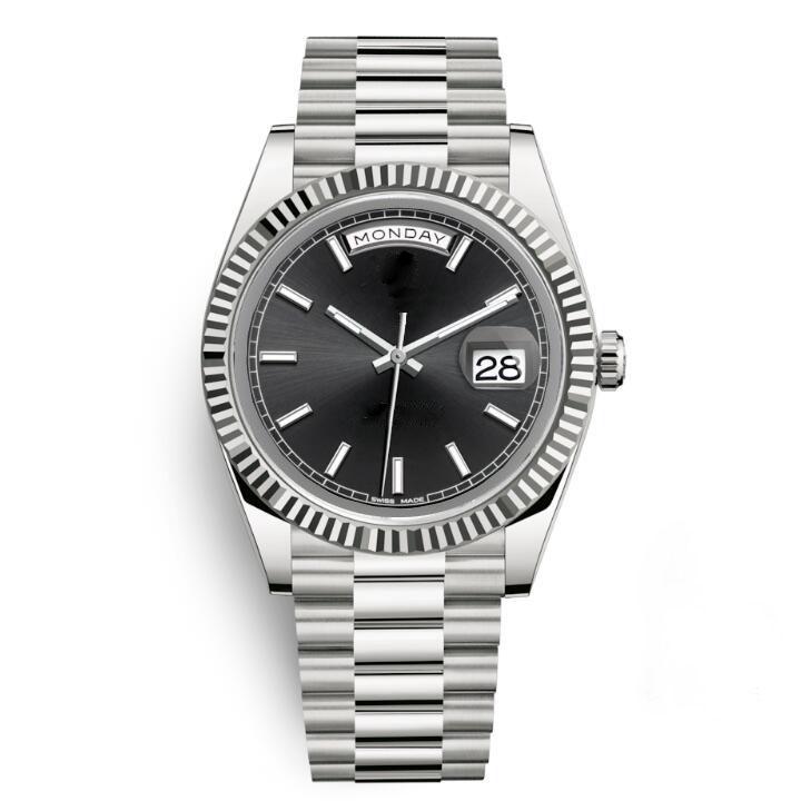 Saphir Kristall Gold Silber Mode Womens Party Damen Uhren Herren Herren Designer Mechanische Automatische Bewegung Tagdatum Watchwatche