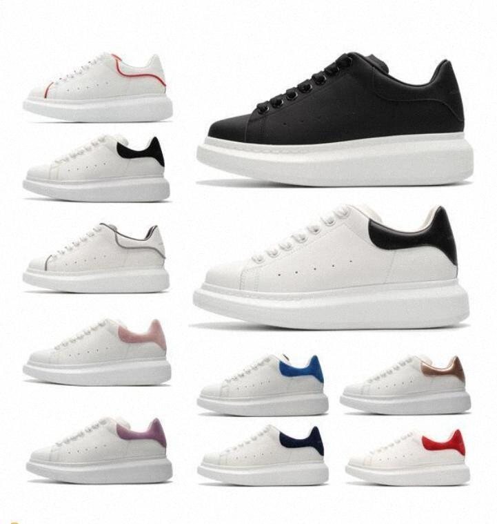 Top Quality designer shoes Genuine Leather Sneaker fashion Mens Women oversized espadrille White Leather Platform Shoes Flat Casual Shoes