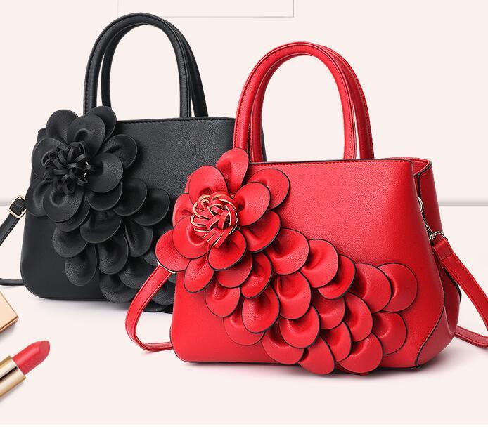 Bag New Three-dimensional Flower Womens Bag Tide Niche Fashion Handbag