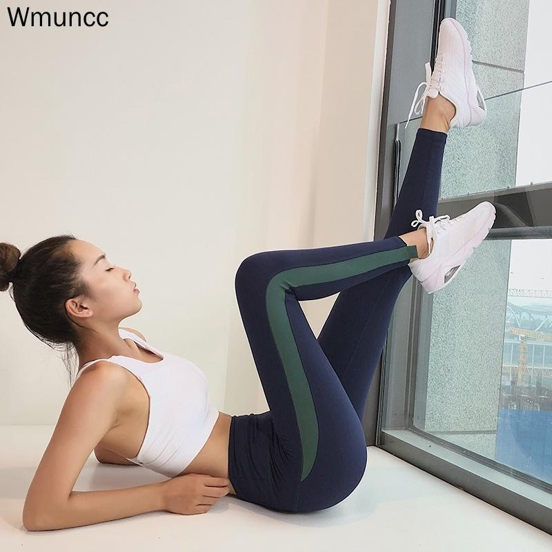 Ginásio Leggings para Fitness Leggins Esporte Mulheres Yoga Calças Sportswear Calças de Mulher Esportes Desgaste Cintura Alta Cintura Tummy Legging 201103