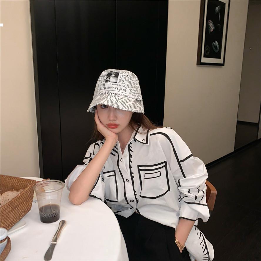 Sonbahar 2021 Yeni Beyaz Gömlek Lüks Tasarımcı Kadın Sokak KPOP PVRF WYHD Giyim