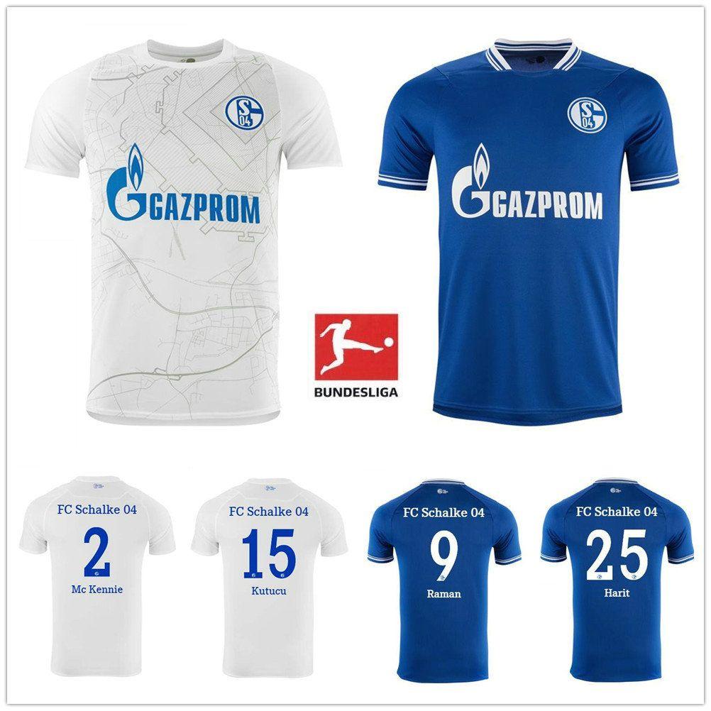 NCAA 2020 2021 Schalke Home Blue Soccer Jersey 20 21 Schalke 04 Away Football Shirts #7 Uth Serdar Bentaled Caligiuri 20 21 Football Jerseys