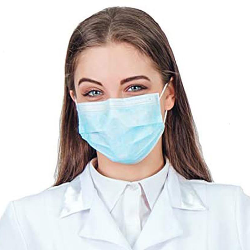 Máscara OMC Fabricante 3ply Medical Earloop Boca Máscara 3 Camada Descartável 3 Ply Máscara Facial Descartável