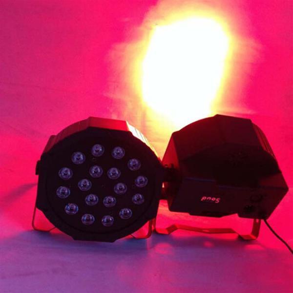 18W 18-LED RGB السيارات والتحكم الصوتي حزب أضواء مرحلة المرحلة السوداء أعلى درجة المصابيح الجديدة والعالية الجودة