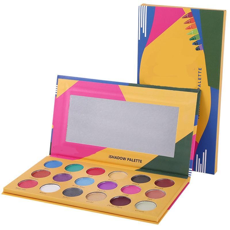 Marka Yeni Pırıltılı Mat Boya Kalemi Ishadow Paleti 18 Renkler Göz Farı Paleti Makyaj DHL Ücretsiz Giymek Kolay