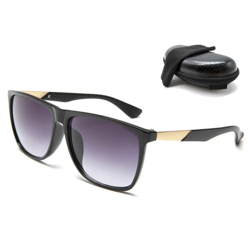 Marke Sonnenbrille Womans Brand Hohe Qualität Gläser mit Herren Sonnenbrille Marke Luxus Sonnenbrille Neue Brille Designer Box Glitter2009 W BKJs