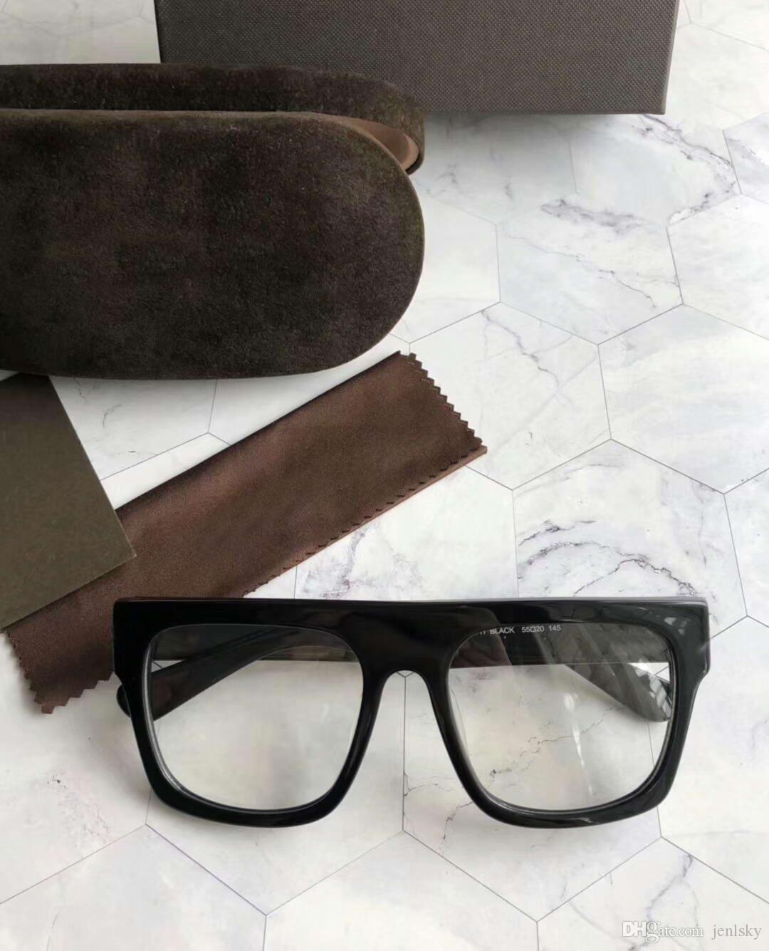 Herren 0711 Eyglasse Brille Black Frame Clear Len Gafas de Sol Mode Sonnenbrille Brille Eyewear Neu mit Kasten