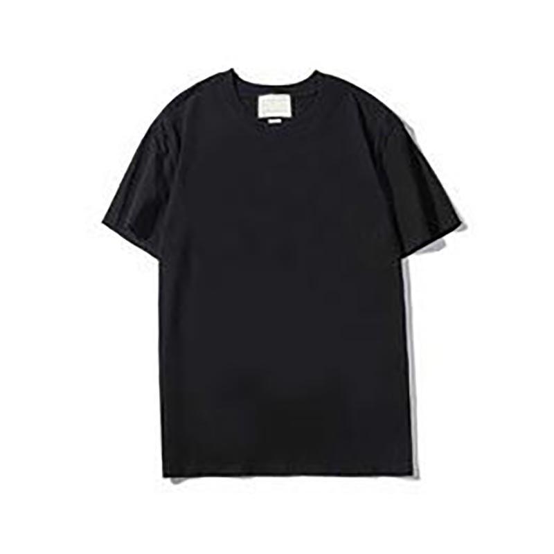 Homens Mulheres Camisetas Alta Qualidade Casual Moda Pura Algodão Impressão Preto Branco Homens e Mulheres Camiseta Tamanho M-2XL G03