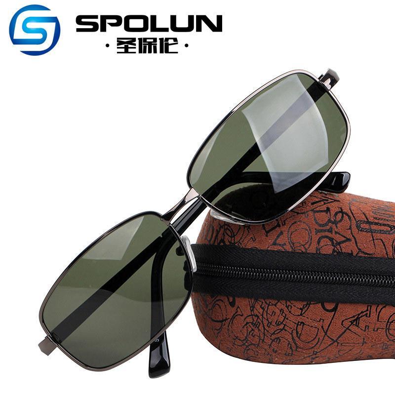 Óculos de sol masculinos polarizando óculos condução óculos de sol espelhos do motorista óculos de sol óculos quadrados miopia