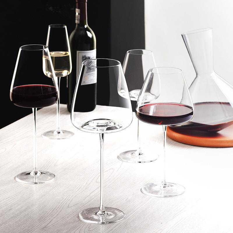 Artwork 500-600Ml Collection Level Handmade Red Wine Glass Ultra-Thin Crystal Burgundy Bordeaux Goblet Art Big Belly Tasting Cup Q1222