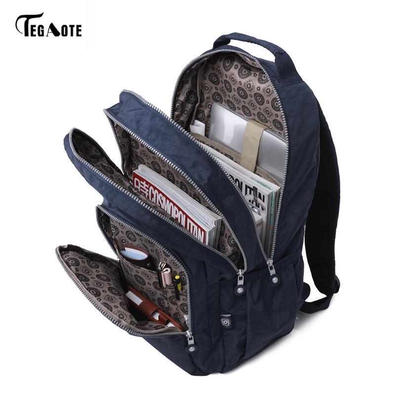 Zaino classico per ragazze adolescenti Mochila Escolare Feminina Donne School Backpack in nylon impermeabile borsa per laptop