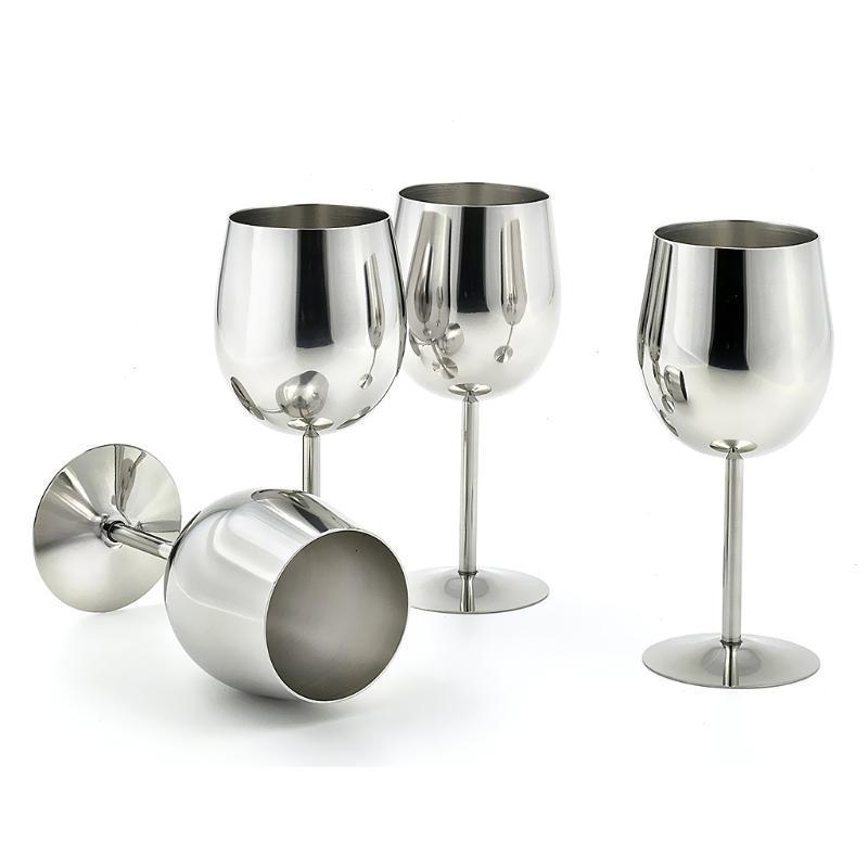 حار بيع 1 قطع المقاوم للصدأ الأحمر النبيذ الزجاج الشمبانيا كأس كأس غير قابل للكسر الشرب القدح مكتب مطبخ ديكور المنزل هدية التخييم