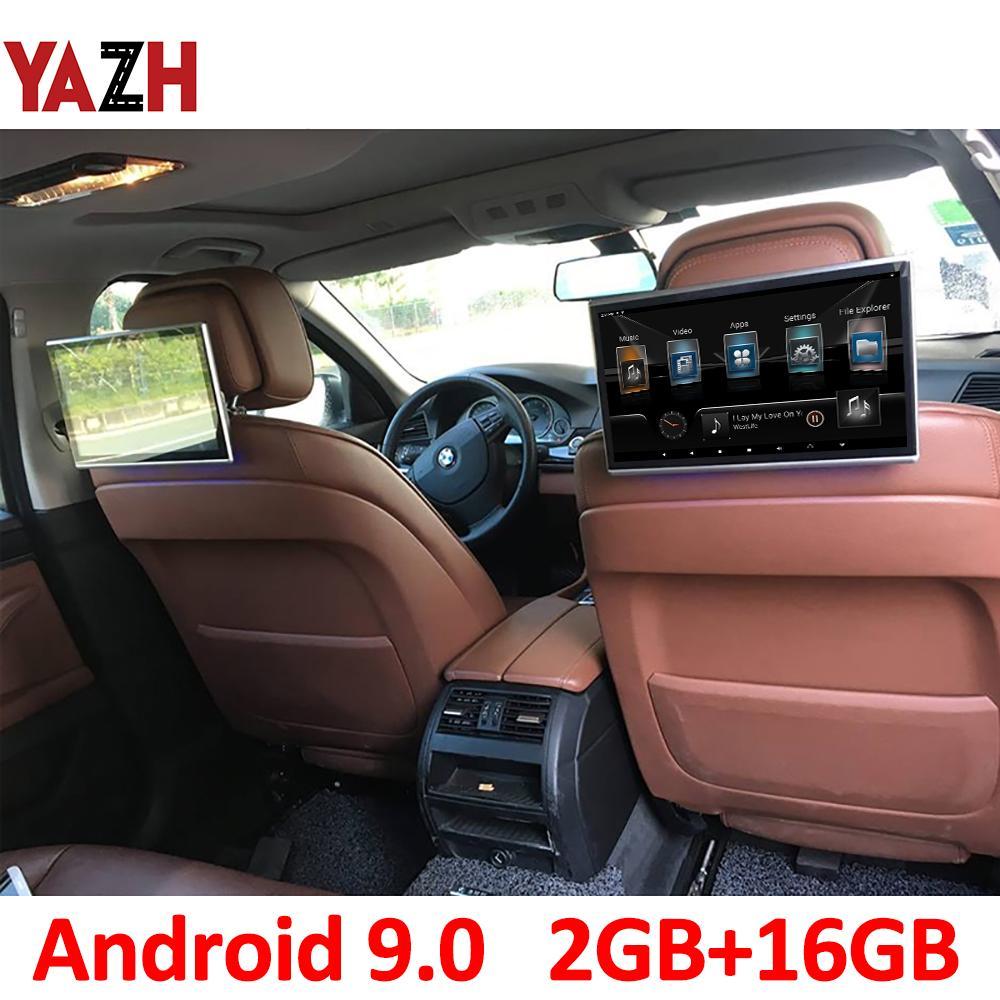11.6 بوصة أندرويد 9.0 مسند الرأس سيارة مراقب 1920 * 1080 HD سيارة دي في دي عرض AUX FM الارسال بلوتوث مع HDMI إدخال USB بطاقة SD 4K الفيديو