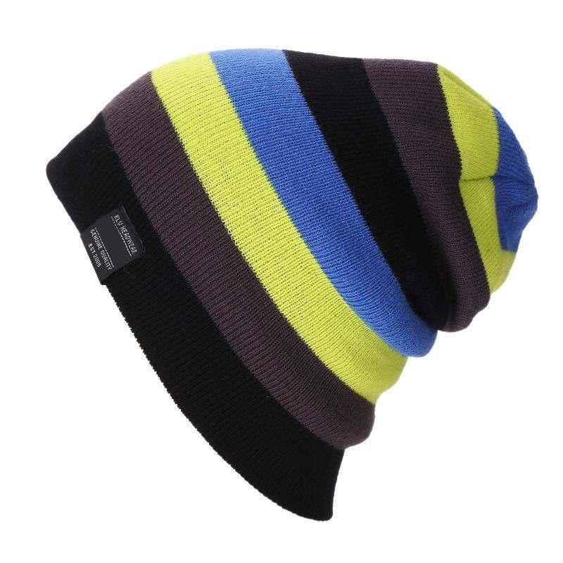 Gökkuşağı Slouchy Baggy Beanie Örgü Renkli Şapka Moda Açık Kadın Erkek PR Sale