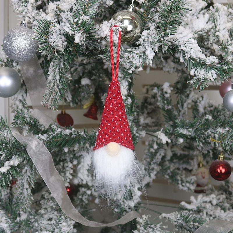 x6sp santa máscara pieza familia colgante árbol colgando ornamento árbol de navidad muñeco de nieve de madera casa claus colgando DIY decoración fiesta regalo CYF4450